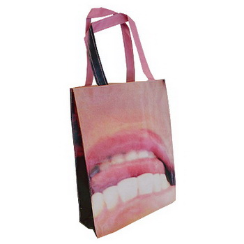Banner turned tote bags for Subway
